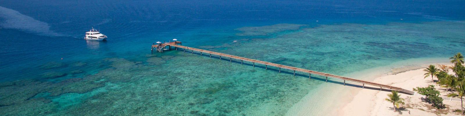 aerial view of malamala resort fiji