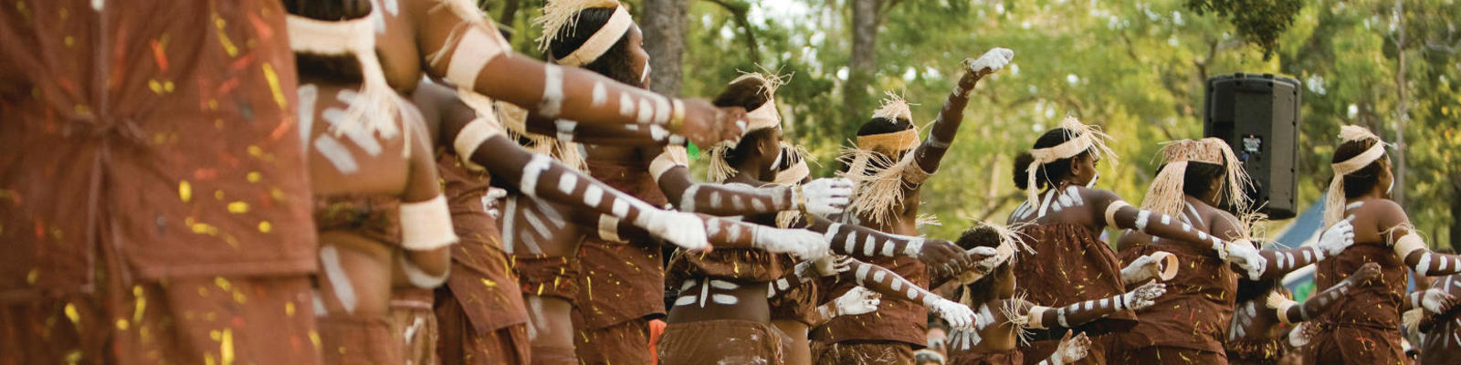 A group of Aboriginal dancers at the Laura Dance Festival.