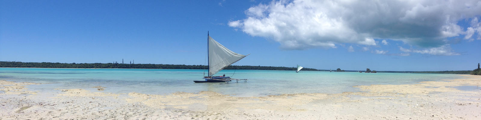 A traditional pirogue in New Caledonia.