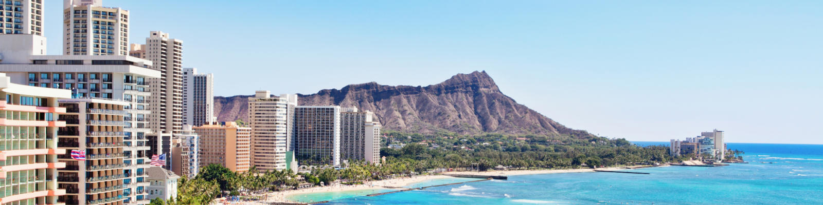 Waikiki Beach with Diamond head in the background