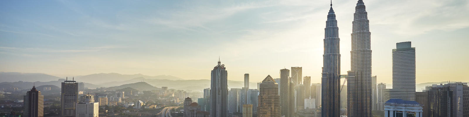 A view of the Kuala Lumpur skyline.
