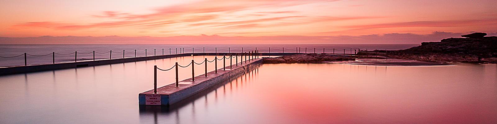 south curl curl pool sunrise