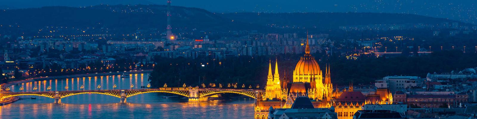 Budapest by night.