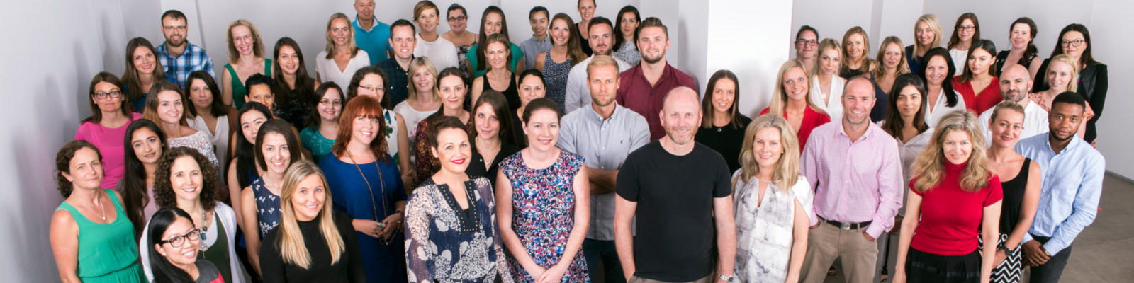 A company photo of the entire staff