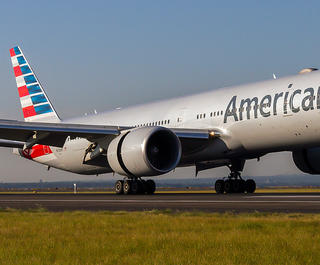American Airlines aircraft taking off