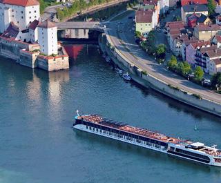 Ama Prima APT river cruise ship on european river
