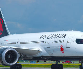 Air Canada Boeing 787-8 Dreamliner aircraft on runway