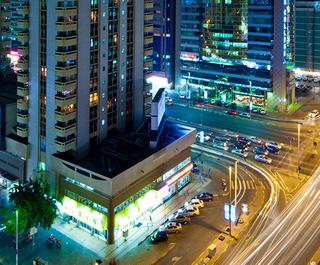 Abu Dhabi bright city lights