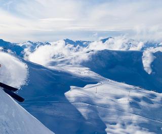 Female skier in Canada