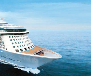 Royal Caribbean's Ovation of the Seas sets sail.