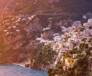Panorama of Positano, Amalfi Coast.