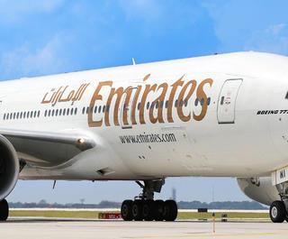 An Emirates plane.