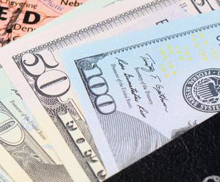 American cash and passport