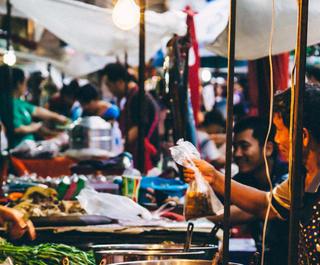 Thai street food vendor