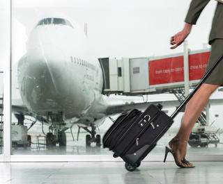 business class passengers use the priority boarding lane