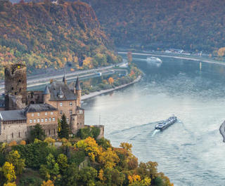 burg katz castle germany and rhine river