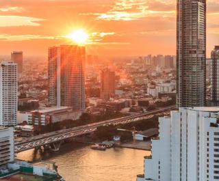 bangkokg skyline sunset