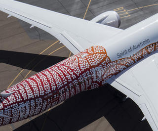 Qantas Dreamliner Emily Kame Kngwarreye. Photo: Qantas.