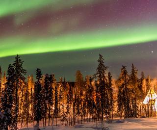 Northern Lights lighting up the night sky