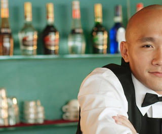 A bartender in Singapore.