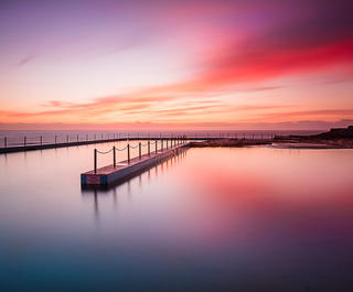 south curl curl pool sunrise