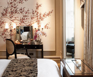The delicate decor in the suits at the Langham, London