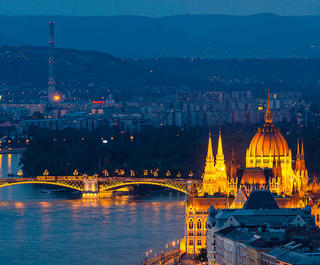 Budapest by night.