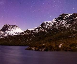 Aurora Australis over Cradle Mountain
