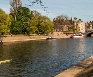 A view of the River Ouse in York, England