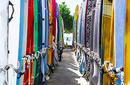 Surfboards Chained Together   by Flight Centre's Talia Schutte
