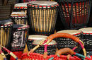 Djembe Drums and Sisal Handbags