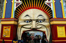 The Colourful Entrance of Luna Park, St Kilda