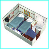 Large outside cabin (Main deck & Sun Deck) (2)