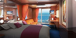Mid-Ship Mini-Suite with Balcony (MA)
