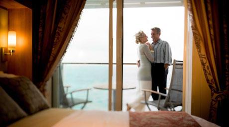 Deluxe Ocean View Stateroom with Veranda (1B)