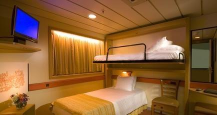 Interior Stateroom - Bunk Bed Style