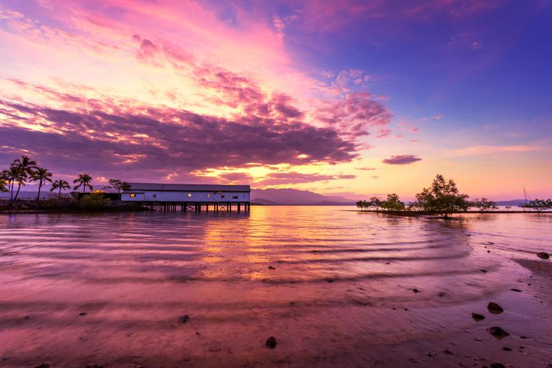 The Sugar Warf in Port Douglas at sunset