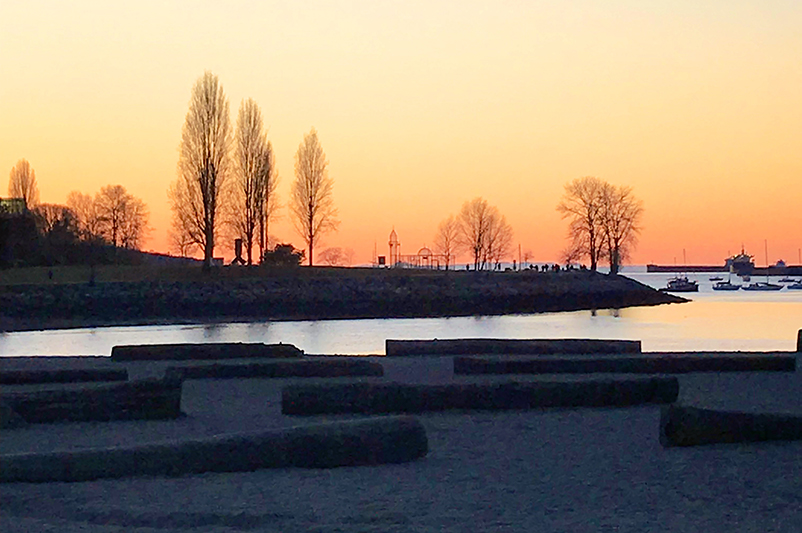 Sunset at Sunset Beach Park, Vancouver