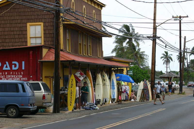surf shop with boards out front hawaii north shore