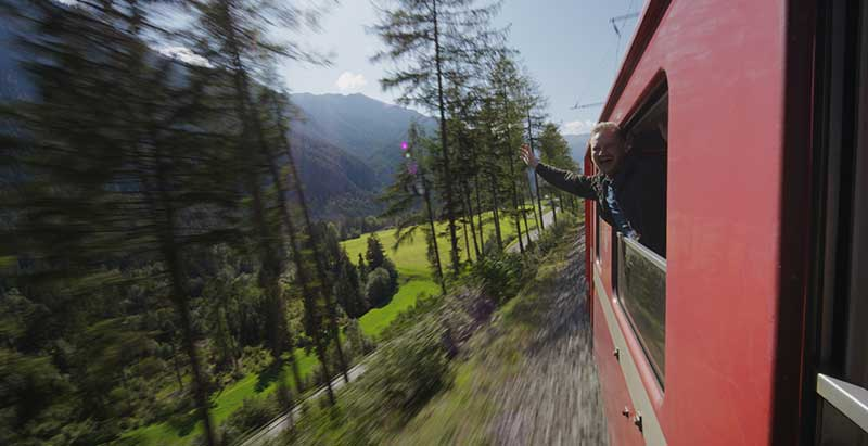 Swiss rail bernina express