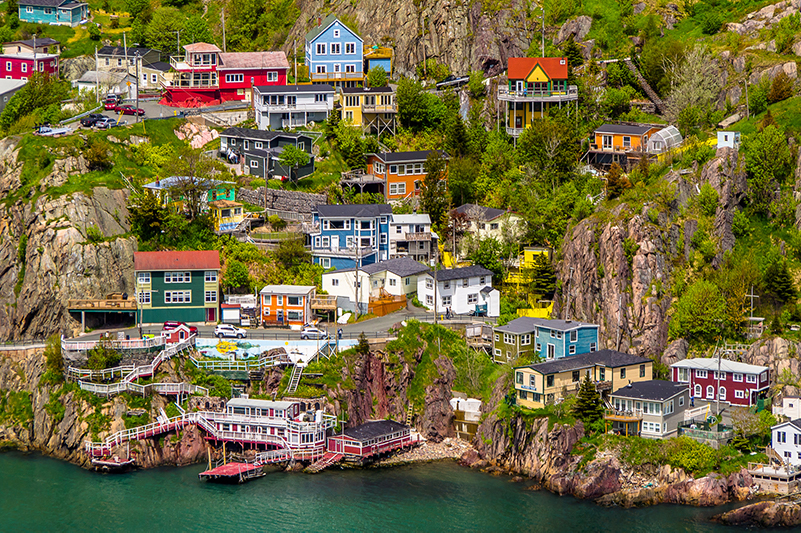Colourful row houses in St John's, Newfoundland and Labrador