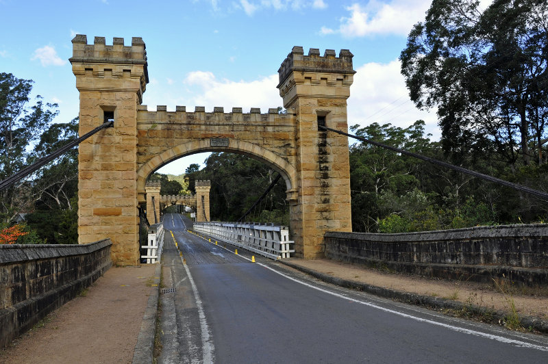 Hampden Bridge in Kangaroo Valley, New South Wales.