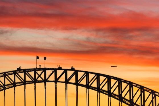 Sydney Flights: Over Harbour Bridge