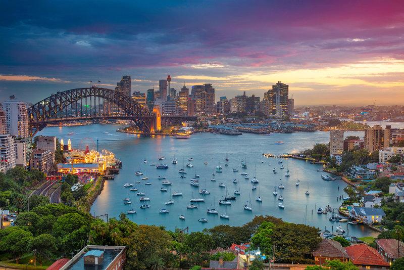 Sydney Harbour Bridge is the world's largest steel arch bridge