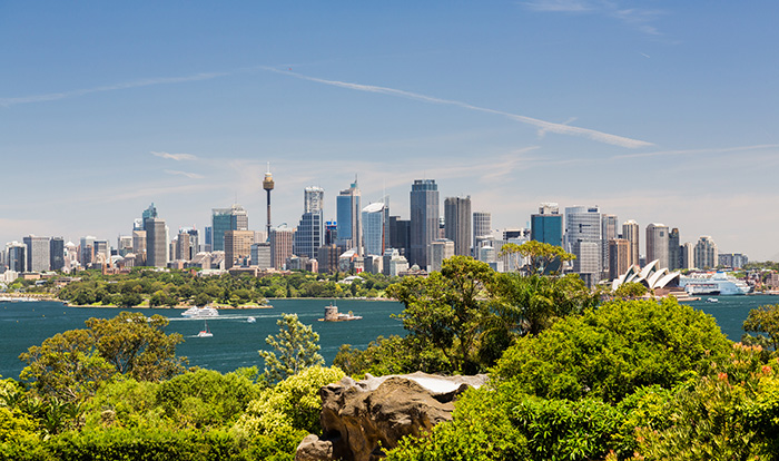View of Sydney Harbour and city from Taronga Zoo