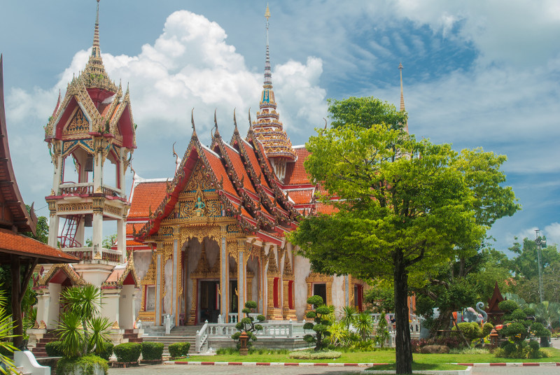 The Wat Chalong temple in Phuket