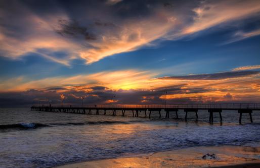 Glenelg Sunset Over Beach