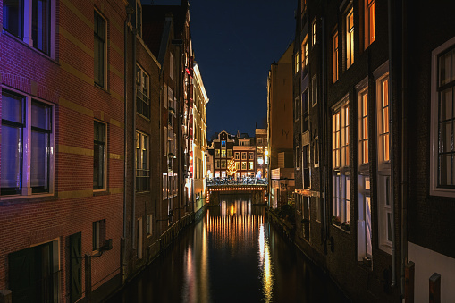 Old Town River Canal Amsterdam