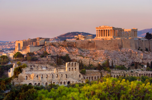 View of Acropolis in Greece