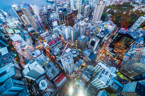Aerial view of Auckland City New Zealand